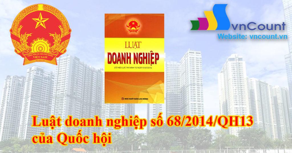 Luật doanh nghiệp số 68/2014/QH13 của Quốc hội
