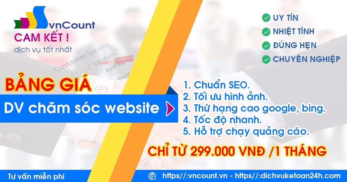 dịch vụ chăm sóc up bài website trọn gói