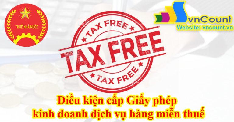 Điều kiện đăng ký kinh doanh hàng miễn thuế