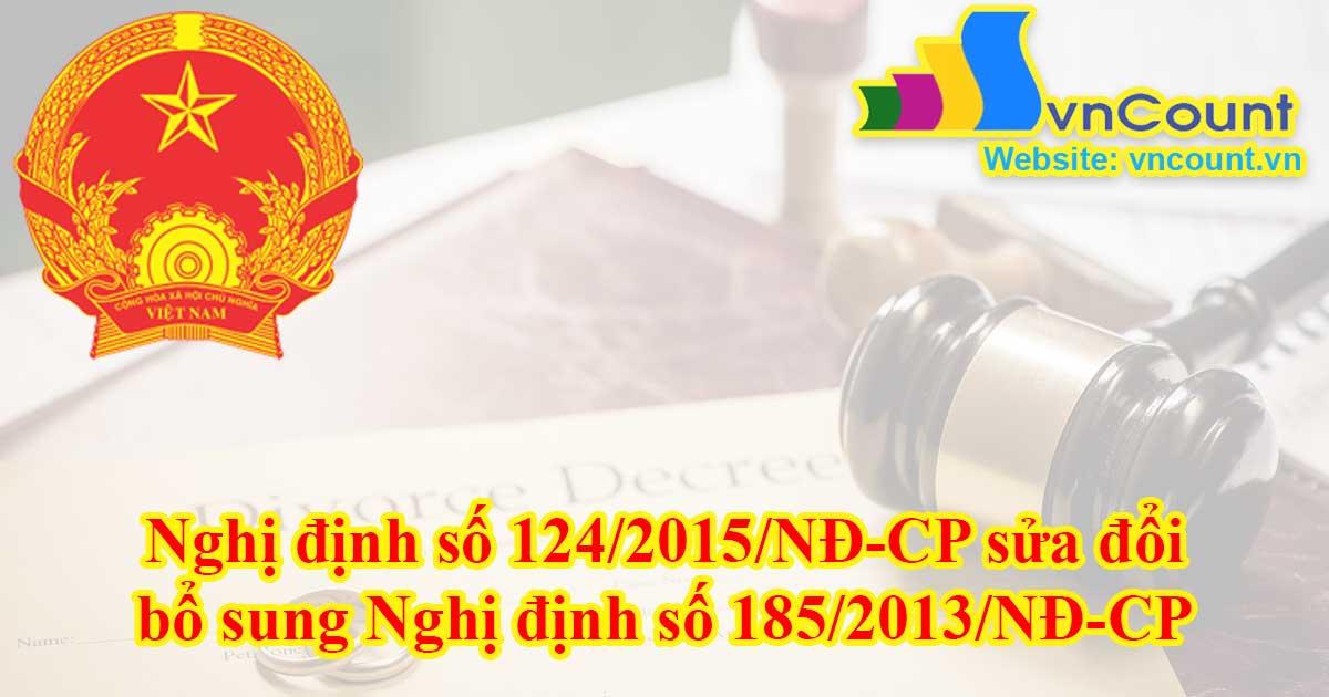 bổ sung Nghị định số 185/2013/NĐ-CP