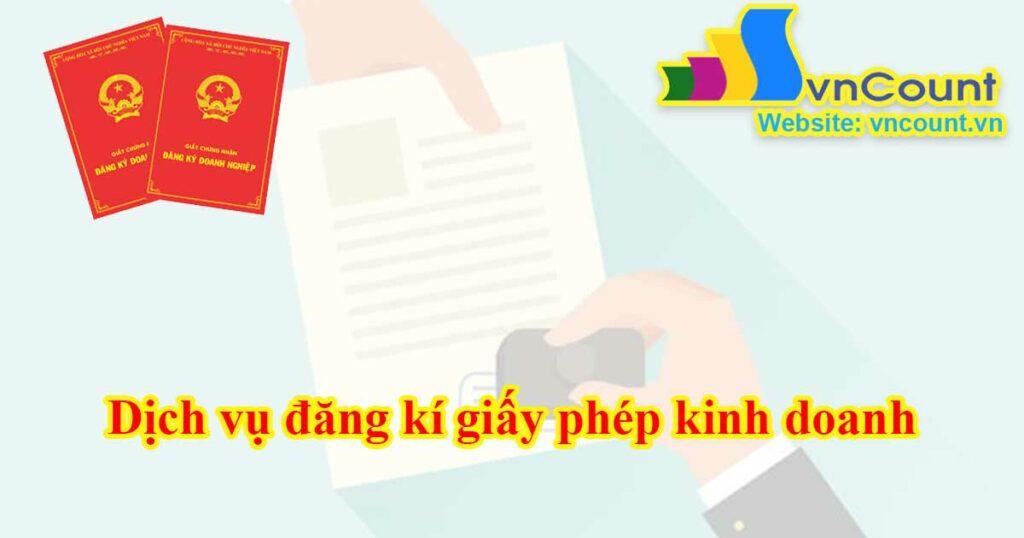 dịch vụ đăng kí giấy phép kinh doanh