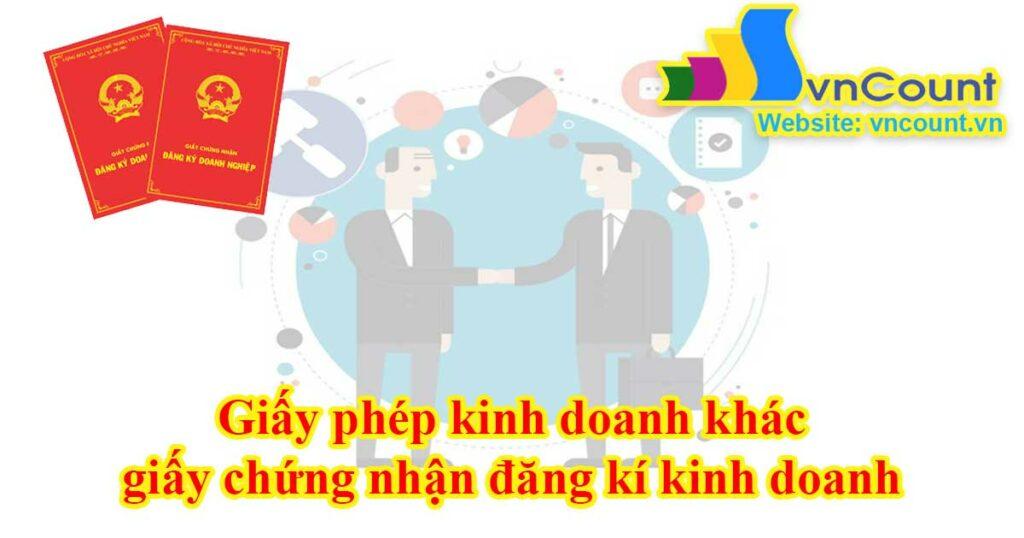 giấy phép đăng kí kinh doanh khác giấy chứng nhận đăng kí kinh doanh