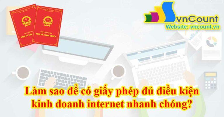 giấy phép đủ điều kiện kinh doanh internet