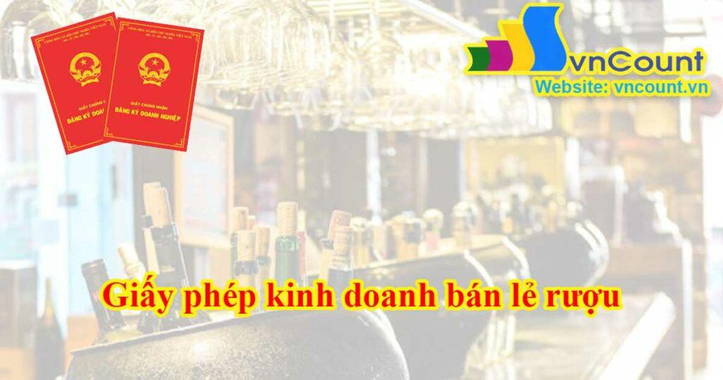 giấy phép kinh doanh bán lẻ rượu