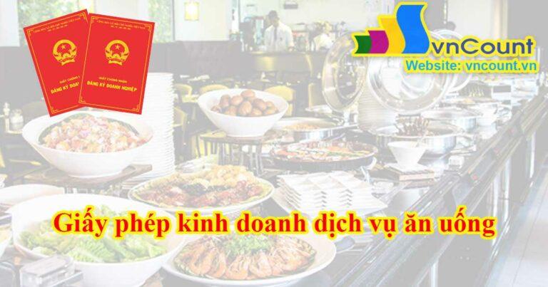 giấy phép kinh doanh dịch vụ ăn uống