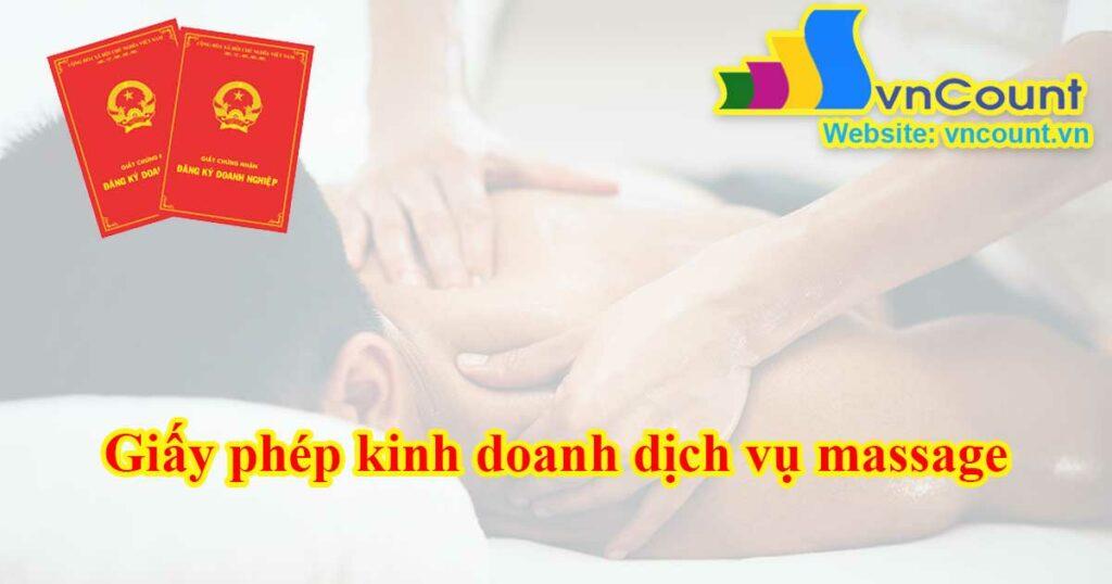 giấy phép kinh doanh dịch vụ massage