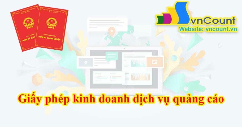 giấy phép kinh doanh dịch vụ quảng cáo