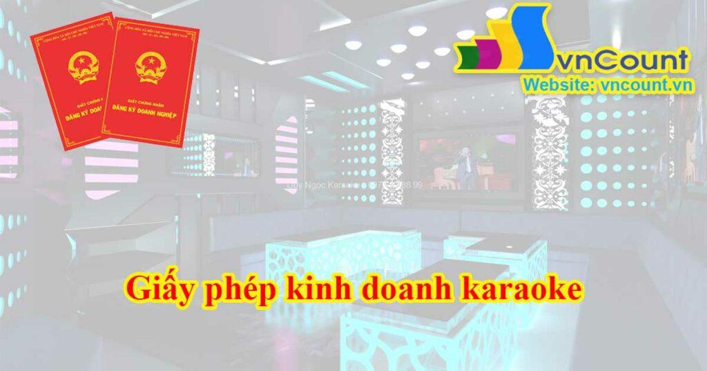 giấy phép kinh doanh karaoke
