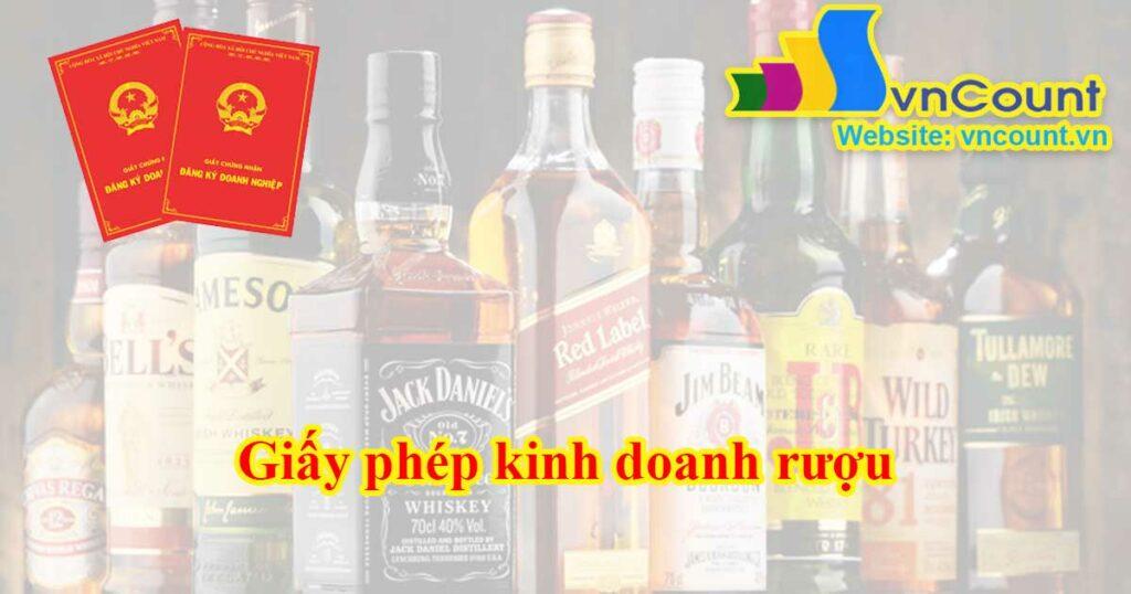 giấy phép kinh doanh rượu