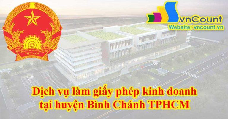dịch vụ làm giấy phép kinh doanh tại Huyện Bình Chánh