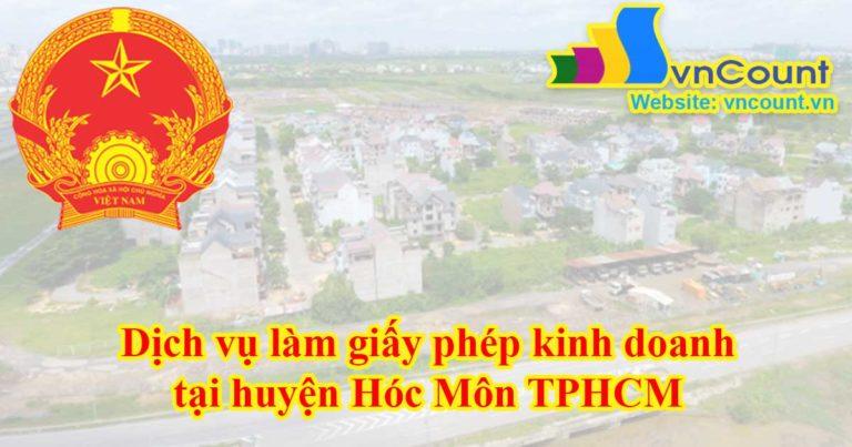 Dịch vụ làm giấy phép kinh doanh tại Huyện Hóc Môn TPHCM