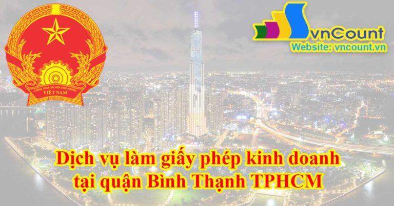Dịch vụ làm giấy phép kinh doanh tại Quận Bình Thạnh TPHCM
