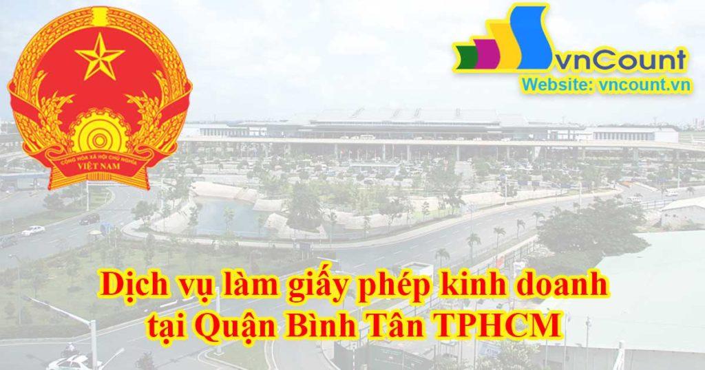 Dịch vụ làm giấy phép kinh doanh tại Quận Tân Bình TPHCM
