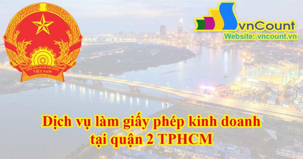 giấy phép kinh doanh tại quận 2 TPHCM