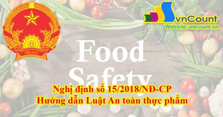 hướng dẫn luật an toàn thực phẩm