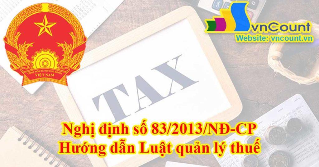 hướng dẫn luật quản lý thuế