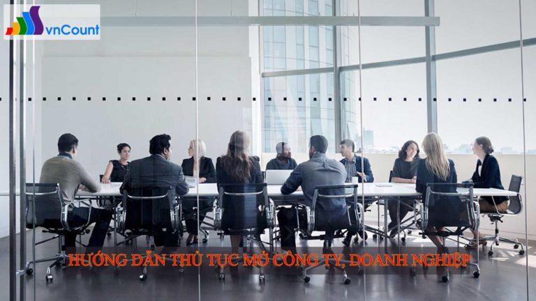 hướng dẫn thủ tục mở công ty doanh nghiệp