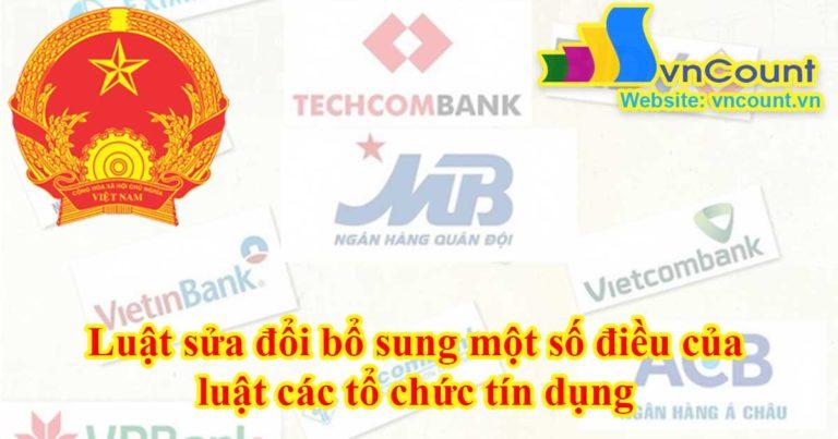 luật các tổ chức tín dụng