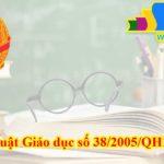 Luật Giáo dục số 38/2005/QH11