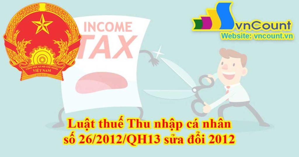 luật thuế thu nhập cá nhân