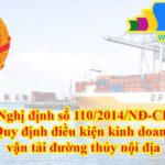 quy định điều kiện kinh doanh vận tải đường thủy nội địa