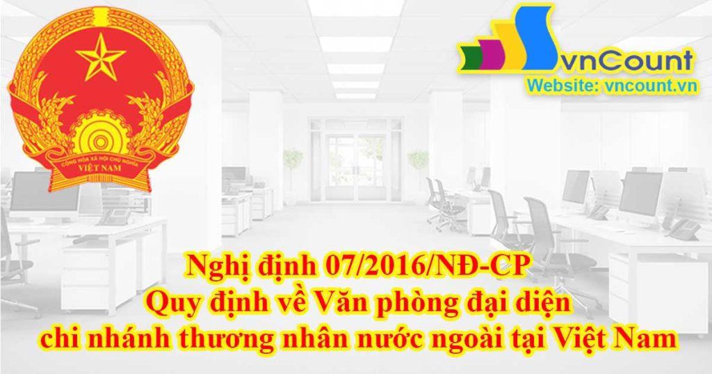 Quy định về Văn phòng đại diện, chi nhánh thương nhân nước ngoài tại Việt Nam