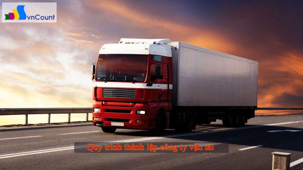 quy trình thành lập công ty vận tải