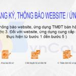 quy trình thông báo đăng ký website ứng dụng thương mại điện tử với bộ công thương