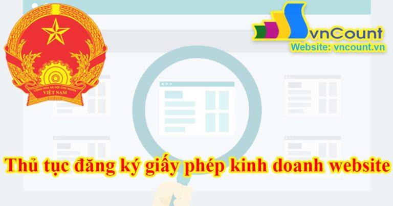 thủ tục đăng ký giấy phép kinh doanh website