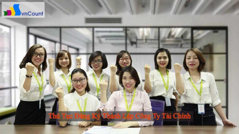 thủ tục đăng ký thành lập công ty tài chính