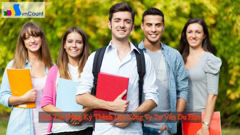 thủ tục đăng ký thành lập công ty tư vấn du học