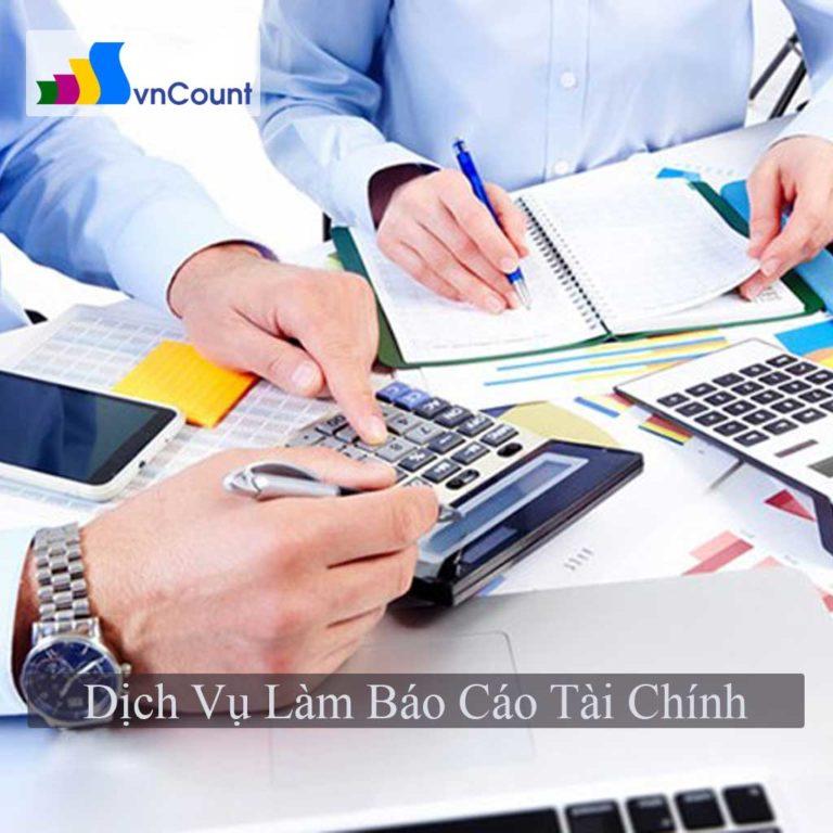 dịch vụ làm báo cáo tài chính