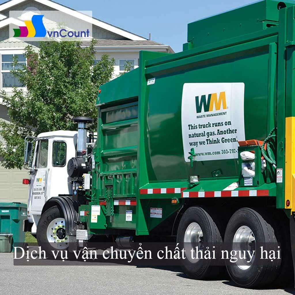 dịch vụ vận chuyển chất thải nguy hại