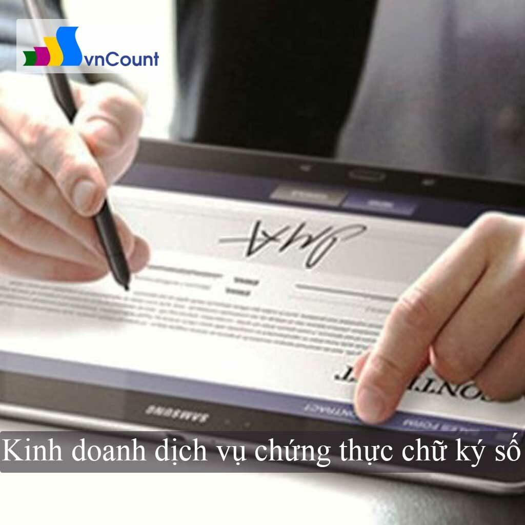 kinh doanh dịch vụ chứng thực chữ ký số