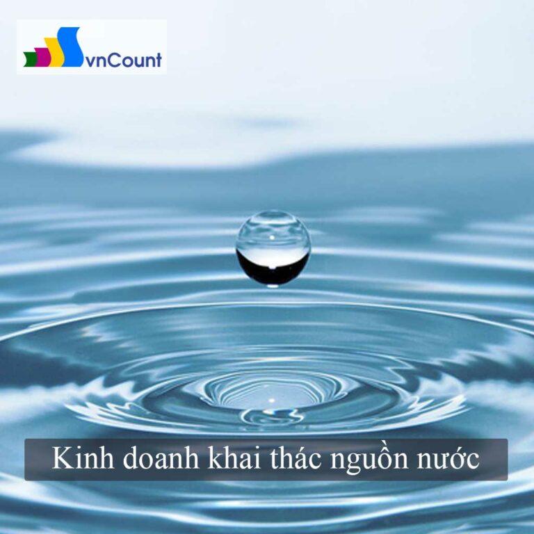 kinh doanh dịch vụ khai thác nguồn nước