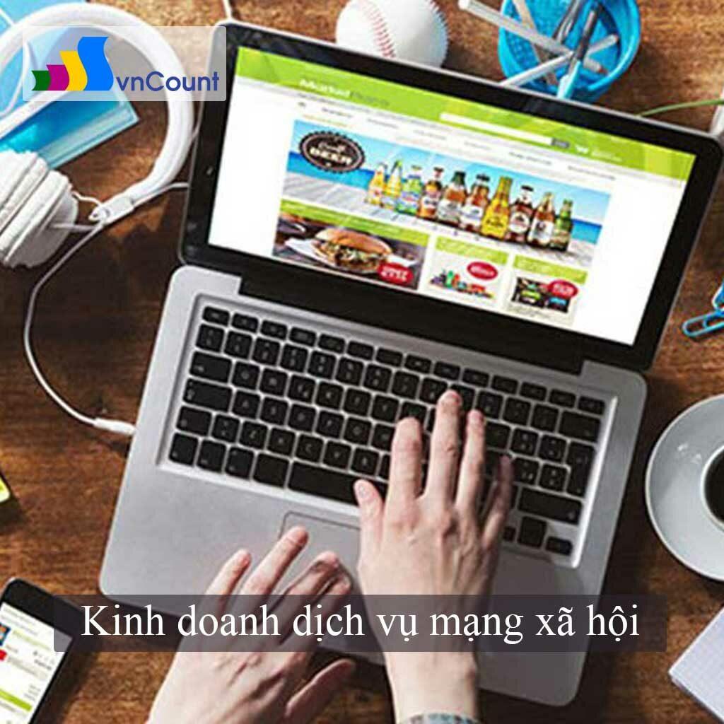 kinh doanh dịch vụ mạng xã hội