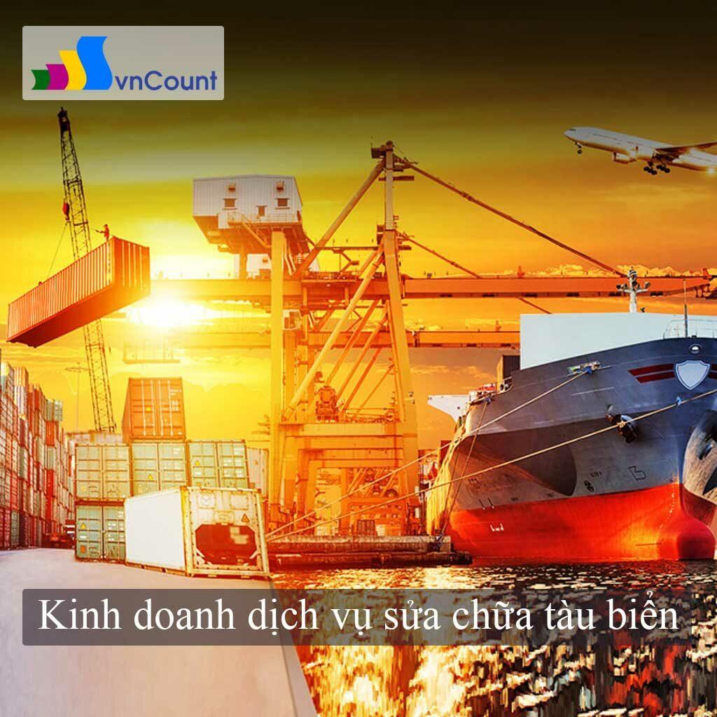 kinh doanh dịch vụ sửa chữa tàu biển