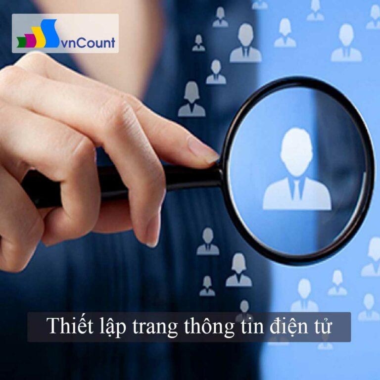 kinh doanh thiết lập trang thông tin điện tử