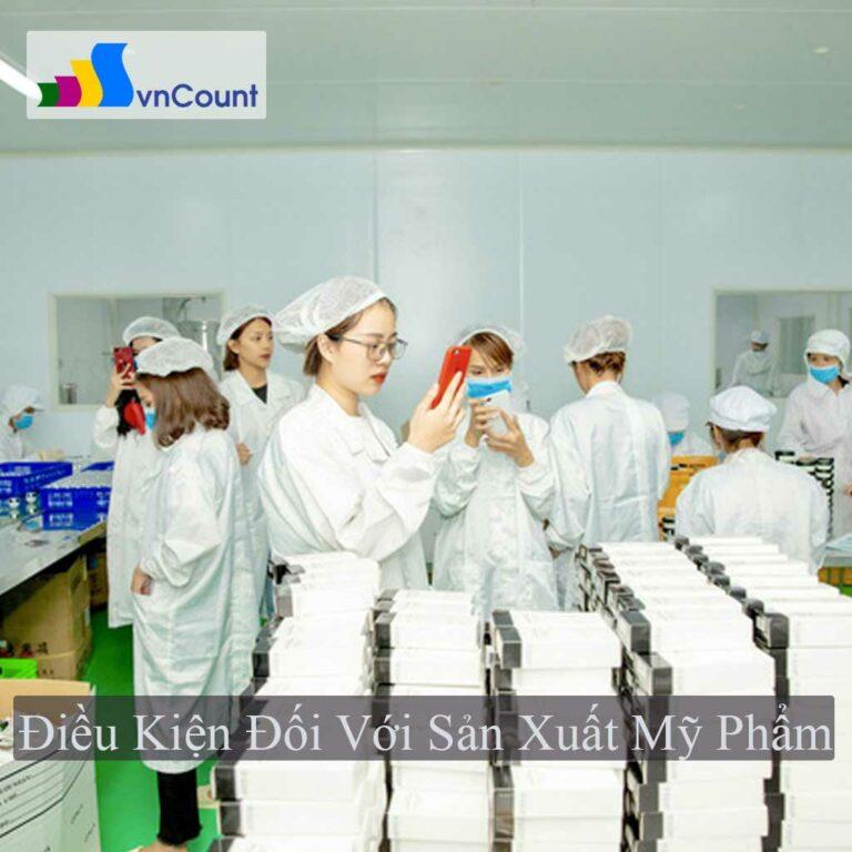 sản xuất mỹ phẩm