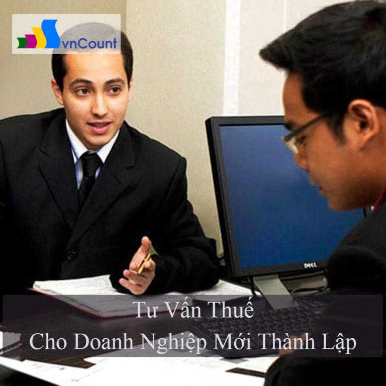 tư vấn thuế cho doanh nghiệp mới thành lập