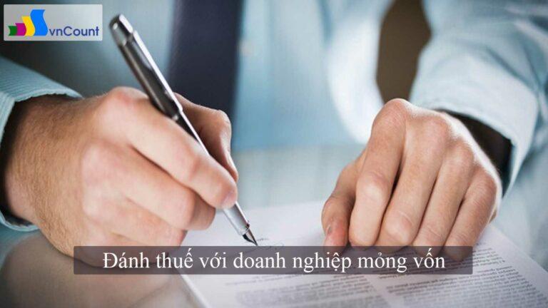 đánh thuế với doanh nghiệp mỏng vốn