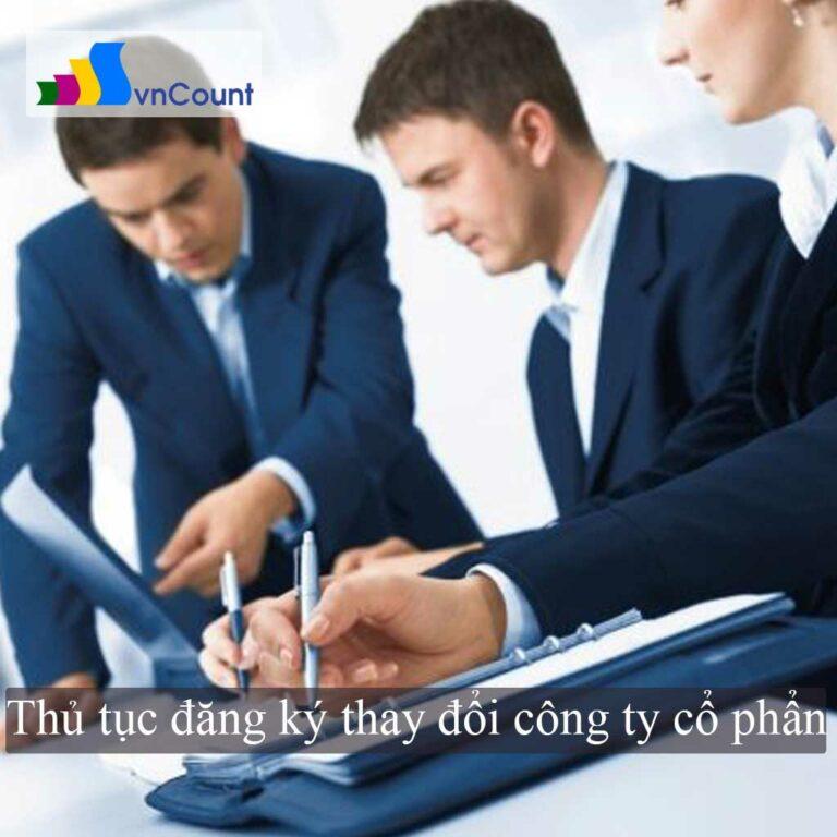 đăng ký thay đổi công ty cổ phần