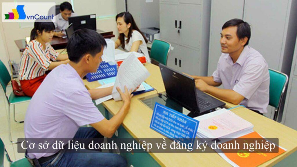 cơ sở dữ liệu doanh nghiệp quốc gia về đăng ký doanh nghiệp