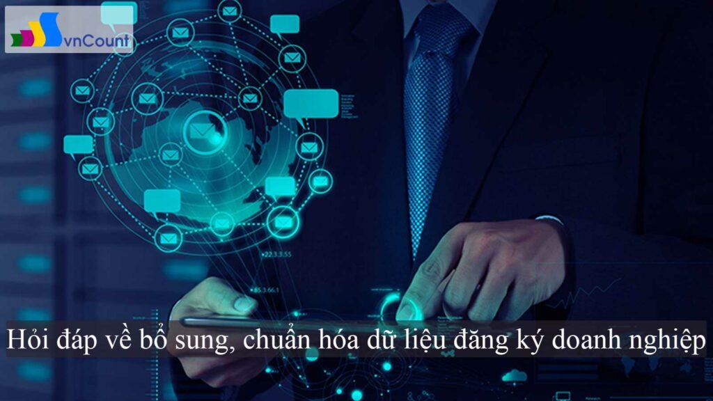 chuẩn hóa dữ liệu đăng ký doanh nghiệp