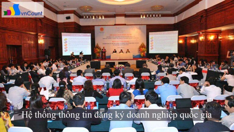 hệ thống thông tin đăng ký doanh nghiệp quốc gia