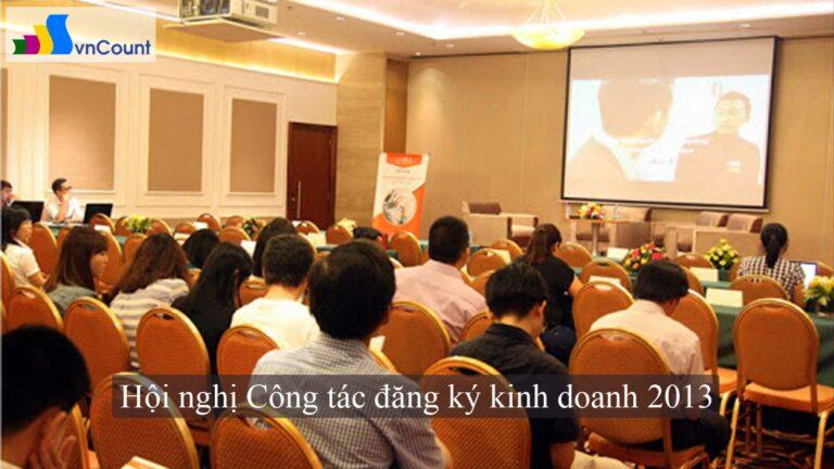 hội nghị công tác đăng ký kinh doanh 2013