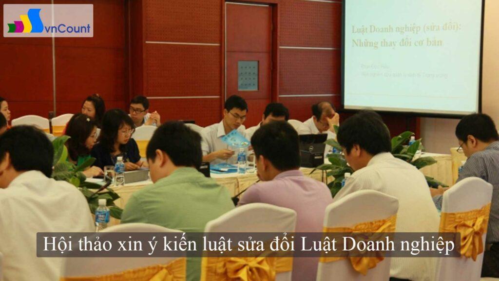 hội thảo xin ý kiến luật sửa đổi luật doanh nghiệp