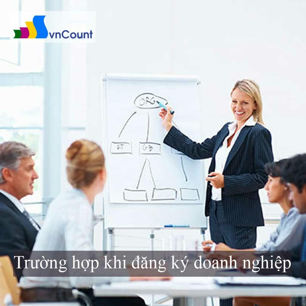 trường hợp thường gặp khi đăng ký doanh nghiệp
