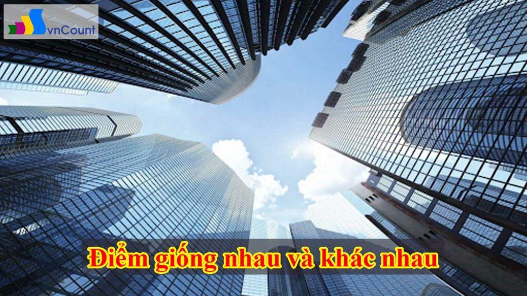 điểm giống nhau và khác nhau giữa công ty tnhh và công ty cổ phần