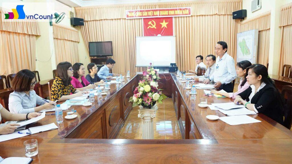 đoàn công tác làm việc với Sở KH ĐT thành phố Cần Thơ